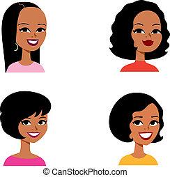 סידרה, avatar, ציור היתולי, אישה, אפריקני