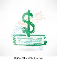 סימן של דולר, גראנג, ירוק, איקון