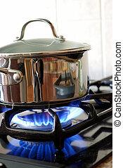 סיר, תנור של גז