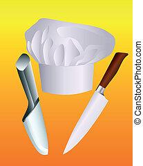 סכינים, כובע של טבח, שני
