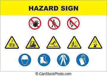 סכנה, איקון, קבע, בטיחות