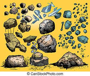 סלעים, אבנים