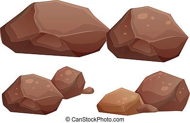 סלעים, גדול, קטן