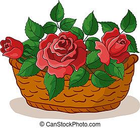 סל, ורדים