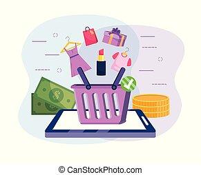 סל, טכנולוגיה, קניות, קדור, אונליין