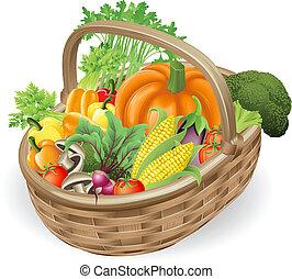 סל, ירקות טריים