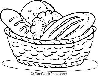 סל, מיתאר, bread