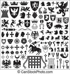 סמלים, יסודות, האראלדיך