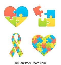 סמלים, מודעות, autism