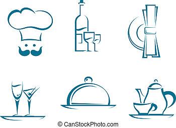 סמלים, מסעדה, איקונים