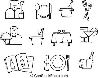 סמלים, מסעדה