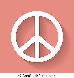 סמל של שלום, היפי, חתום.