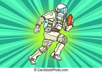 ספורטאי, כדורגל, אסטרונאוט, אמריקאי