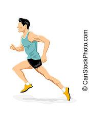 ספורטאי, לרוץ