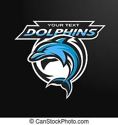 ספורט, team., סמל של דולפין, לוגו