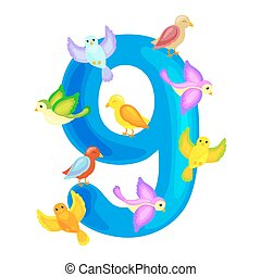 ספרים, מספרים, יסודי, לספור, ילדים, אי.בי.סי, חשב, אלפבית, birdies, גן ילדים, 9, ללמד, ordinal, יכולת, דוגמה, אוסף, פוסטרים, בית ספר, בעלי חיים, כמות, וקטור, תשעה, או