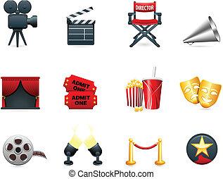 סרטים, תעשיה, הסרט, אוסף, איקון
