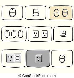 סתום, החלף, קבע, חשמלי, וקטור