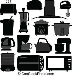 עבד, אלקטרוני, מכשירים, מטבח