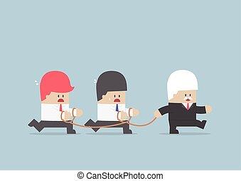 עבד, עסק, קבץ, לעקוב, איש עסקים, מנהיג