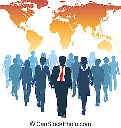 עבודה, אנשים של עסק, גלובלי, בן אנוש, התחבר, אמצעים