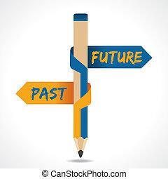 עבר, חץ, עפרון, עתיד