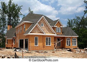 עדיין, חדש, בניה, בית, מתחת