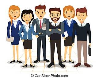 עובדים, וקטור, צוות של עסק