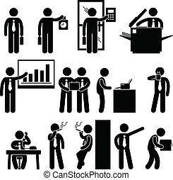 עובד, איש עסקים, עבודה, עסק