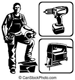 עובד, כלים