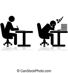 עובד, עייף