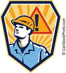 עובד, קבלן, בניה, הזהר, ראטרו, חתום