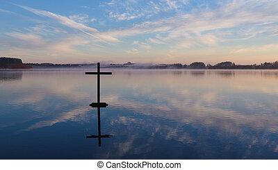 עובר, אגם של השתקפות