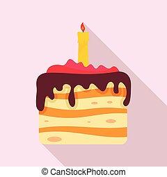 עוגה, איקון, סיגנון, יום הולדת, דירה