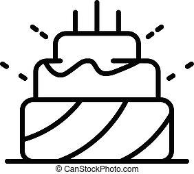 עוגה, איקון, סיגנון, יום הולדת, תאר