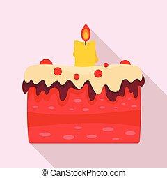 עוגה, איקון, סיגנון, ממתק, דירה