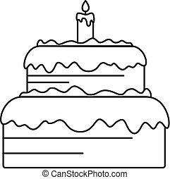 עוגה, איקון, סיגנון, תאר, ממתק