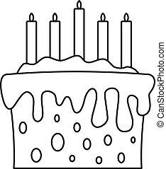 עוגה, איקון, סיגנון, תאר, מתנה