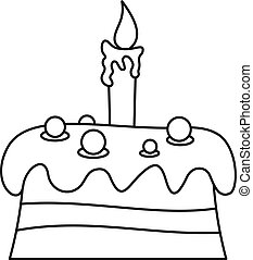 עוגה, איקון, סיגנון, תאר, קרם