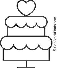 עוגה, איקון, -, תאר, חתונה