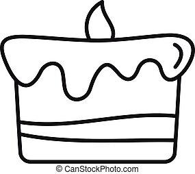 עוגה, איקון, תאר, יום הולדת, סיגנון