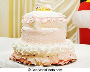 עוגה, גדול, יום הולדת, טעים
