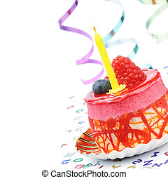עוגה, יום הולדת, צבעוני