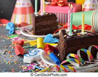 עוגה, יום הולדת, שוקולד