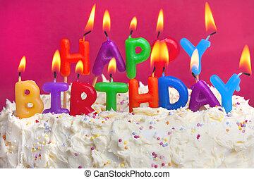עוגה, יום הולדת, שמח