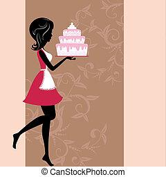 עוגה, ילדה