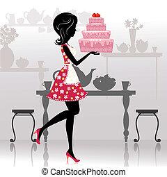עוגה, ילדה, רומנטי