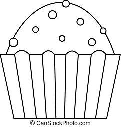 עוגה, לחמנייה, איקון, סיגנון, תאר