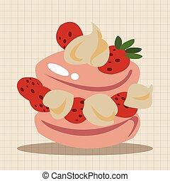 עוגה מקשטת, יסודות, תימה