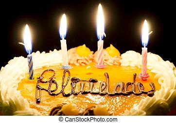 עוגה, נרות של יום ההולדת